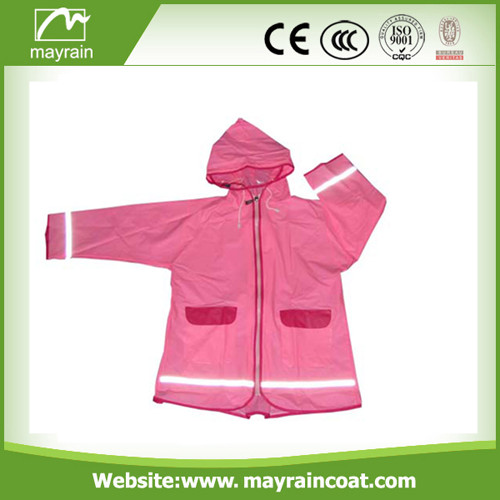 Child Polyester Raincoat for Selling