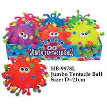 Juguete jumbo divertido de la bola del tentáculo
