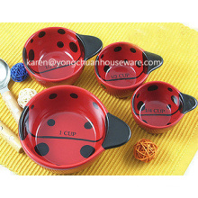 Ladybugs Ceramic Set of 4 Measuring Cups