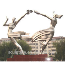 2016 Escultura nova do aço inoxidável para o jardim & a escola High Quaity o status urbano