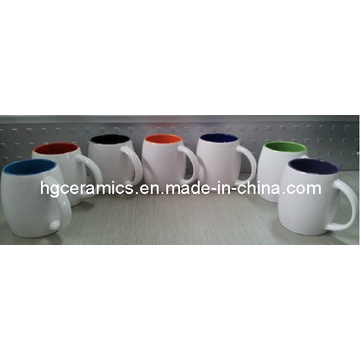 Barrel Shaped Mug, Inside Color Outside White Color Mug