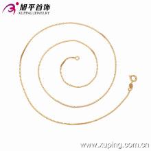 42626-meilleure marque de bijoux fantaisie en or 18 carats 3 g 1mm 50cm de long chaine box