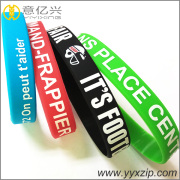 fashion eco-friendly silicone debossed wrist band