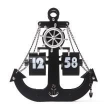 Movimiento silencioso Metal Anchor Flip clock