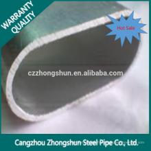 Tuyau d'acier en forme d'ovale à soudure soudée laminée à froid avec qualité initiale