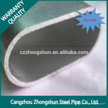 Laminado en frío ERW Soldadura de óvalo en forma de tubo de acero con calidad superior
