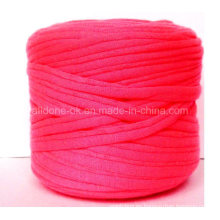 Tejer a mano tejido de ganchillo algodón ecológico Zpagetti reciclado elástico camiseta hilado