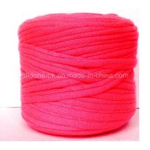 Hand Knitting Crocheting Ecologic Cotton Zpagetti Recycled Elastic T-Shirt Yarn