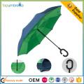 2017 новый ветрозащитный двойной слой перевернутый обратный зонтик для продажи