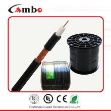 El mejor cable 75ohm / 50ohm del CCTV del cambo RG6 del precio de la alta calidad con el certificado CE / UL / ISO9001 del paso de CCS / BC / fabricante en shen