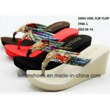Neue Design Lady Fashion High Heel Flip Flop Sandalen (FF68-1)