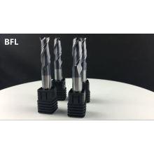 Outil de fraisage carré de cannelure du carbure 4 de BFL solide, fraise en bout carrée pour le métal