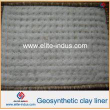 Revestimentos de argila geo com camada inferior de tecido