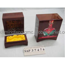 solid rubber wood Wine box classic-high end