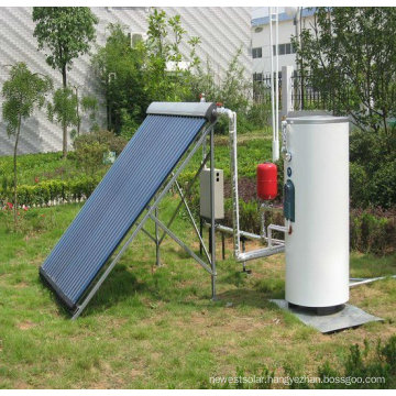 Vertical solar heater collector