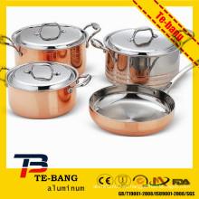 6 шт. Комплект кухонной посуды из алюминия, алюминиевый варочный котел