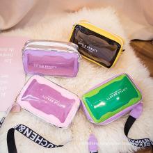 Women Crossbody Bag Letters Flap Shoulder Bags Clear Ladies Jelly Purses Wholesale