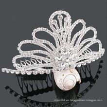 Accesorios de moda de pelo cristal tiara barrette boutiques de pelo en karachi