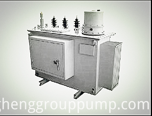 Electric pump self - cooled outdoor step-down transformer.