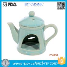 Teapot Shape Oil Burner with Lid Cheap Ceramic