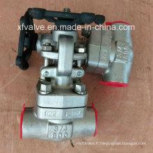 API6d a forgé la valve de porte NPT d'extrémité de fil d'acier inoxydable F316L