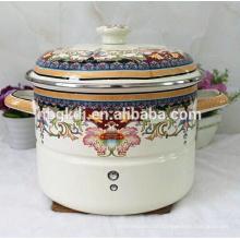 Japanischer Emaildampfkochtopf / Suppentopf Keramikknopf