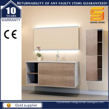 European Style Modern Bathroom Cabinets with Glossy Side Panels