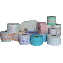 Custom Printed Soft PE Film Sanitary Raw Materials Back Sheet Breathable Pe Film For Adult Baby Diapers