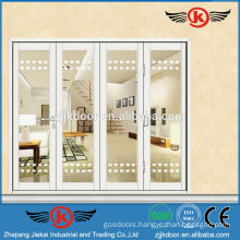 JK-AW9104 pure white nice four leaf interior glass sliding door
