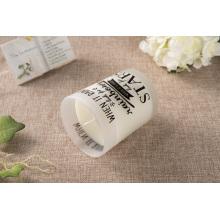 Bougie parfumée en gros de verre givré de soja pour la décoration
