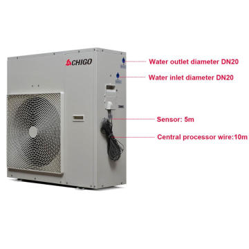 2017 Newest Energy Saving Famous Brand Air to Water Heater Heat Pump