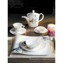 A072 Green germany fine porcelain dinnerware set