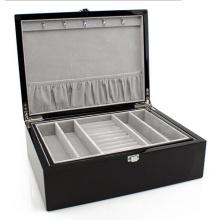 Espresso Leather Jewelry Box (HX-A0750)
