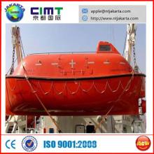 Marine bateau de sauvetage totalement fermé avec ceinture de sécurité CCS ABS