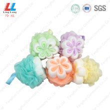shower+pouf+flower+bath+pouf+exfoliating+bath+sponge