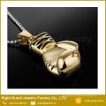 Collar colgante de guante de boxeo de arcoiris de oro negro plateado