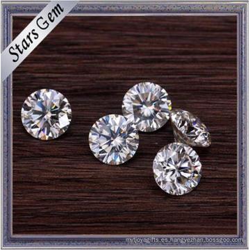 La mejor calidad E / F Color blanco Ronda 1.5 quilates Moissanite Stones en precio al por mayor