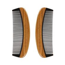 FQ marque logo personnalisé maison bois de santal corne barbe peigne