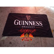 Bandera de la cerveza de Guinness darught bandera de promociones de la barra bandera de Guinness personalizada bandera de poliéster