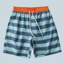 Shorts de playa para hombre con cordón