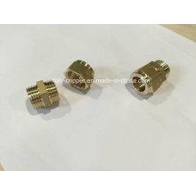 Certified latón de latón de compresión macho hembra (AV70004)
