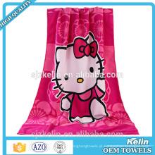 toalhas de banho de personagem de desenho animado