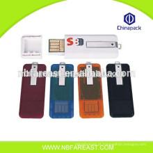 Baratos novo design OEM grossista plástico usb flash drive