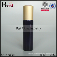5ml 15ml 30ml tube glass bottle with roller ball and aluminum cap skin care products packaging wholesale