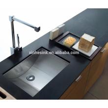 Fregadero de la barra del fregadero de la preparación del acero inoxidable con la parte inferior curvada