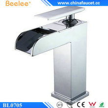 Beelee Bl0705 Single Lever Brass Waterfall Bathroom Faucet