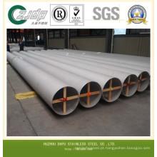 Tubo de aço inoxidável sem costura / soldado ASTM A312 Tp316 / 316L