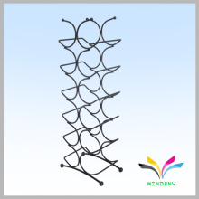 Smartable black counter metal wire red wine retail display rack