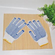 Beliebteste weiße PVC-punktierte Baumwolle Sicherheitshandschuhe
