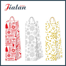 2016 New Design- Christmas Wine Bottle Shopping Gift Paper Bag